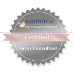 Image showing pediatric sleep consultant certification logo.