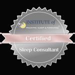 Image showing pediatric sleep consultant certification logo.
