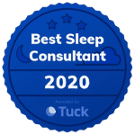 Image showing the best sleep consultant award from Tuck
