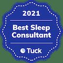Badge showing Best Sleep Consultant in 2021